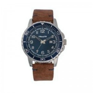 Tomato Gents Blue Dial/Date Silver Case 48mm Watch