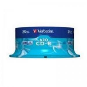 Verbatim M43352 CD-R 52X 700MB Crystal AZO 25 Pack Spindle