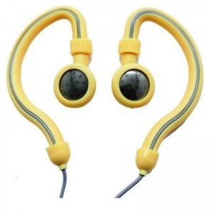 Geeko YESHSP-101-CRM Innovate Hook On Ear Dynamic Stereo Earphones-Cream