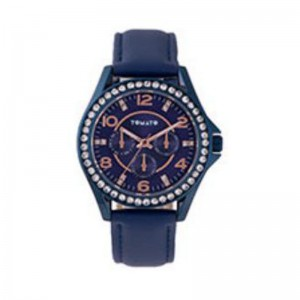 Tomato Ladies Navy+ Rose Gold Dial Watch with 37mm Blue+Stone Case
