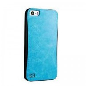 Promate 6959144004839 Lanko.i5 iPhone 5 Hand-Crafted Leather Case-Blue