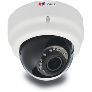 ACTi D65A 3MP IR Day/Night IP Full HD Indoor Dome Camera with Audio Support and 2.8 to 12mm Varifocal Lens