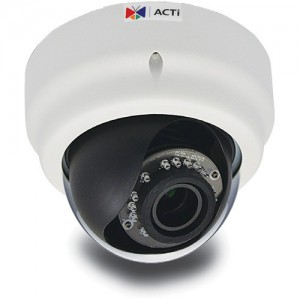 ACTi E61 1MP IR Day/Night Indoor HD IP Dome Camera with Basic WDR & 2.8 to 12mm Varifocal Lens