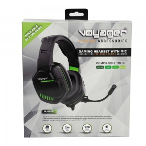 Voyager Gaming Headphones with Mic - Black & Lime