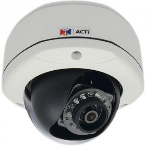 ACTi D71A 1MP IR Day/Night IP Outdoor Dome Camera with 2-Way Audio Support and 2.93mm Fixed Lens
