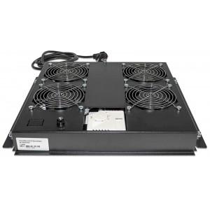 """Intellinet 712866 4-Fan Ventilation Unit for 19"""" Racks - Roof Mount"""