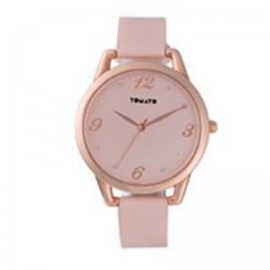 Tomato Ladies Nude Dial+Stone Detail,Rose Gold 38mm Case Watch