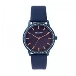 Tomato Ladies Navy Dial Watch with Blue+Stone 36mm Case