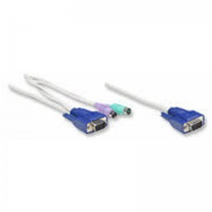 Intellinet 502535 KVM Cable for Rackmount Console KVM Switch