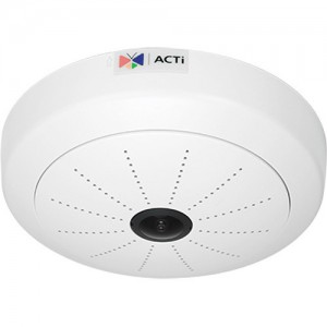 ACTi I51 5MP Indoor Day/Night ePTZ Hemispheric IP Dome Camera with 1.05mm Fixed Fisheye Lens