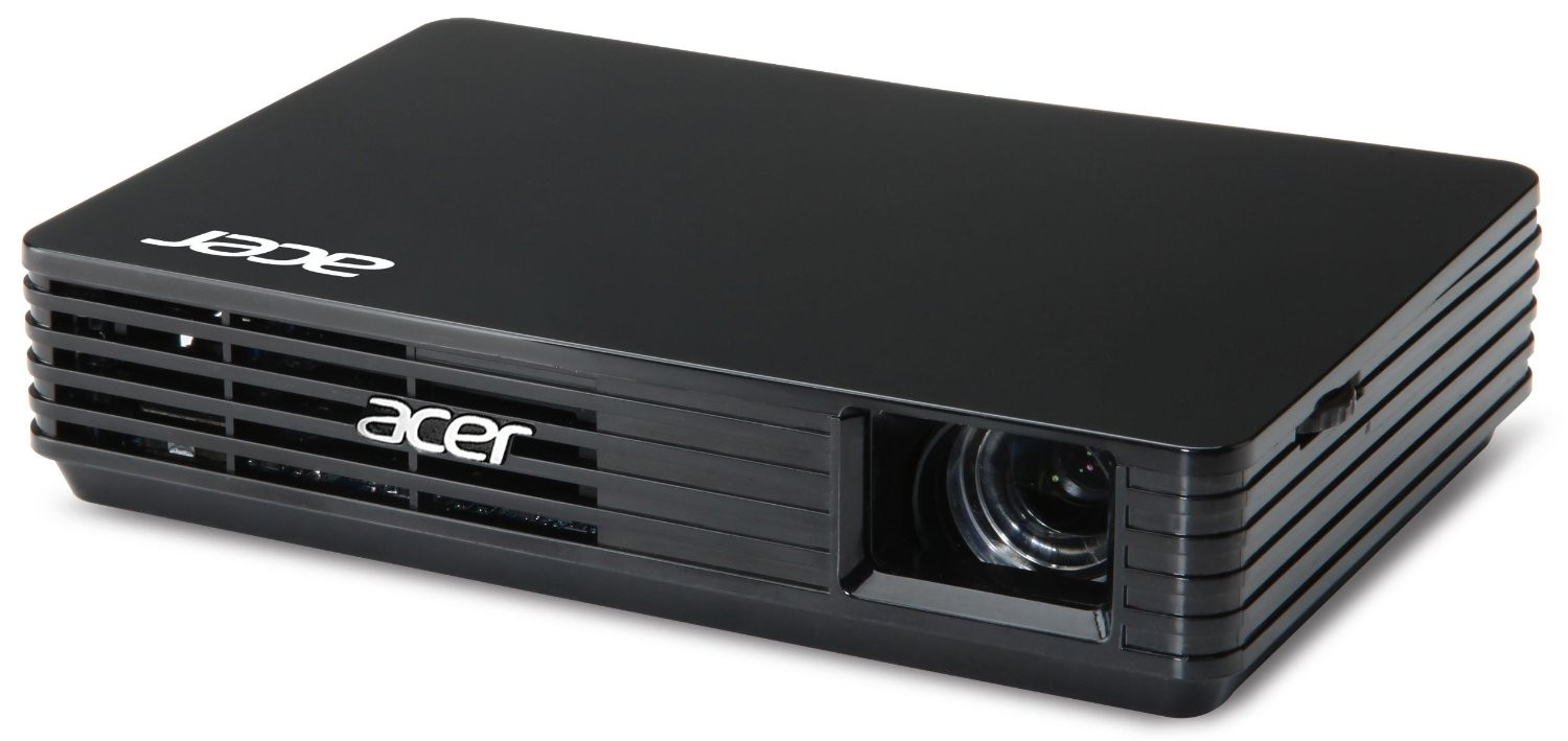 Projectors acer c120 led portable projector 100lm acer for Handheld projector price