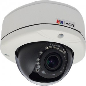 ACTi E83 5MP IR Day/Night Outdoor IP Dome Camera with Basic WDR, 2-Way Audio Support, & 2.8 to 12mm Varifocal Lens
