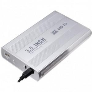 External Hard Drive Enclosure 3.5 inch USB 2.0 Aluminium