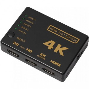 HDMI Switch 5 to 1 up to 4K 3D Supported