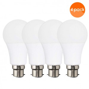 Emergency LED Light Bulb with Rechargeable Battery Back-up 9W  (Lasts up to 3-4 Hours) B22 (bayonet) -  4 Pack