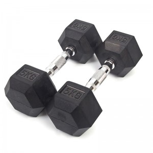 Rubber Coated Hex Dumbbell Weights - Sold individually