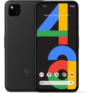 Google Pixel 4a Android Smartphone (128 GB) Up to 24 Hour Battery - Just Black
