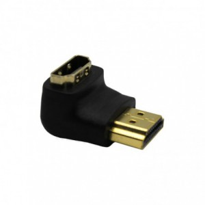 HDMI 90 Degree Male to Female Adapter – Black