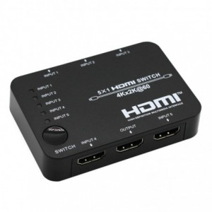 HDCVT HDMI 5 x 1 Switch – Black