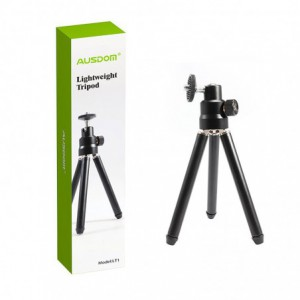Ausdom LT1 Lightweight Mini Tripod|Adjustable Legs|360 Degree Rotation|90 Degree Tilt - Black