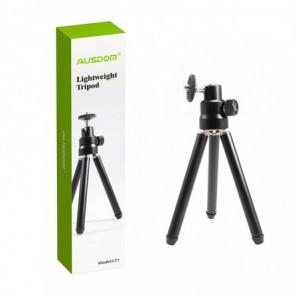Ausdom LT1 Lightweight Mini Tripod|Adjustable Legs|360 Degree Rotation|90 Degree Tilt - Black