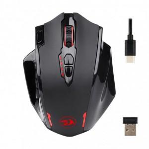 Redragon Impact Elite Wireless MMO 16000DPI 18 Button|Ergonomic Design|RGB Backlit Gaming Mouse - Black