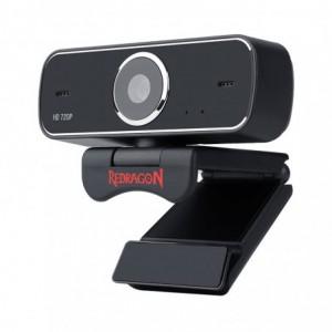 Redragon FOBOS 720p|68.6 FOV|Mount Bracket|30 FPS PC Webcam - Black