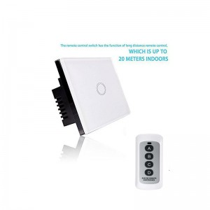 Smart Light Switch - RF Touch Remote Control - 1 Gang (NO NEUTRAL REQUIRED)