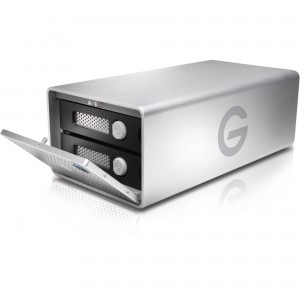 """G-Technology 0G04094 G-Raid G1 3.5"""" 12TB (2x6TB) 7200RPM USB3.0 and Thunderbolt 2 External Hard Drive (HDD)"""