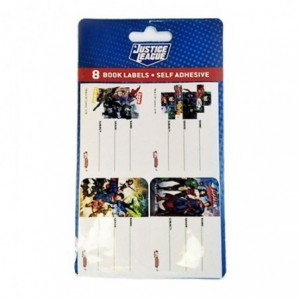 Justice League Book Labels W/Lines ( Pack of 8 ) 4 Different Designs