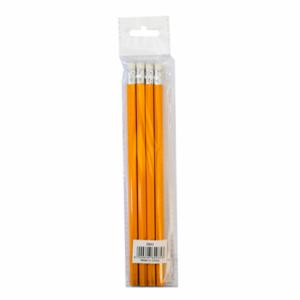 Brainware Yellow Barrel Rubber-Tipped Pencils ( Box of 4 )