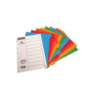 Donau A4 File Divider Plastic Tab1 - 10