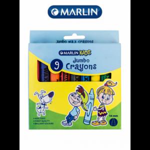Marlin Kids Jumbo Wax Crayons 14mm ( Pack of 9 )