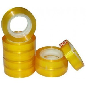 Brainware Office and Student Clear Tape 18mm x 30m Small Core Shrink Wrap Sold 8 Per Pack