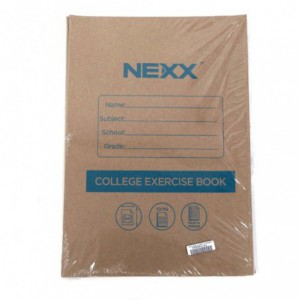 Nexx A4 College Exercise Book Feint and Margin 72 Page ( Pack of 5 )