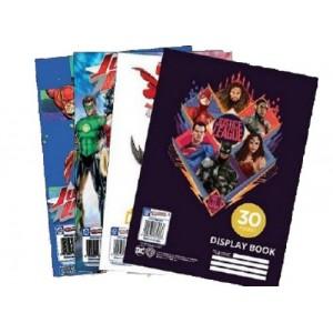 Justice League Display Book File 30 Pockets - 4 Designs