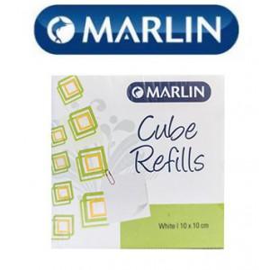 Marlin Cube Refills White 10x10cm in Shrink-wrap