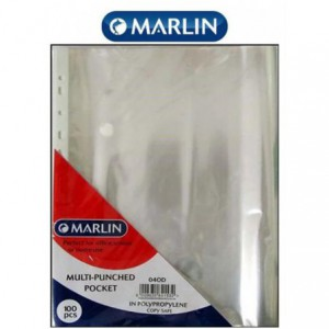 Marlin A4 Multipunch Pockets Sleeves ( Pack of 100 )