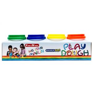 Marlin Kids Play Dough Tubs 4 Colours -56g