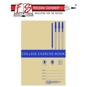 Freedom A4 Feint and Margin College Exercise Book 72page - Pack of 20