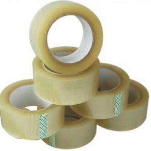 Brainware Office Packaging Clear Tape 45mm x 135m-Shrink Wrap Sold as a Pack of 6