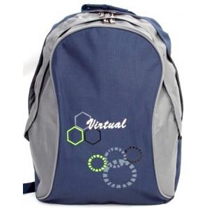 Macaroni Ateneo Universal Backpack- Blue and Grey