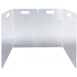 Casey 4 Tier Self Supporting L Shaped Foldable Protective Transparent Shield
