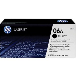 HP Original HP06A HP C3906A Black LaserJet Toner Cartridge