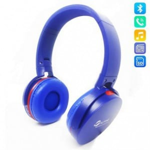 Alpino Wireless Bluetooth 3.0 Stereo Headset with Built in Microphone - Blue