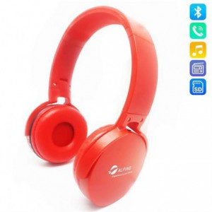 Alpino Wireless Bluetooth 3.0 Stereo Headset with Built in Microphone - Red