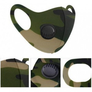 Casey Reusable 3D Structured Unisex Dual Layer Face Masks With Breath Valve Colour Camo Military Green