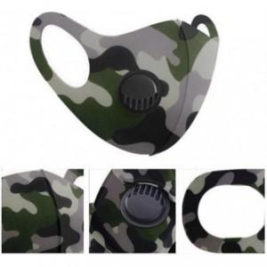 Casey Reusable 3D Structured Unisex Dual Layer Face Masks With Breath Valve Colour Camo Purple