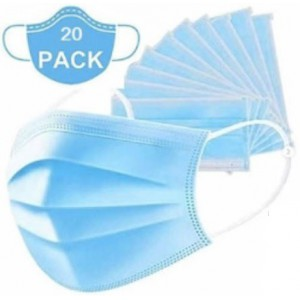 Casey 3 Ply Disposable Face Mask with Earloop- 20 Per Pack
