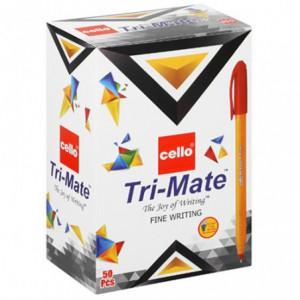 Cello Trimate Fine Point Pen 0.7mm Box of 50 Colour: Red